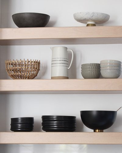 Kitchen Open Shelf Styling For Fall