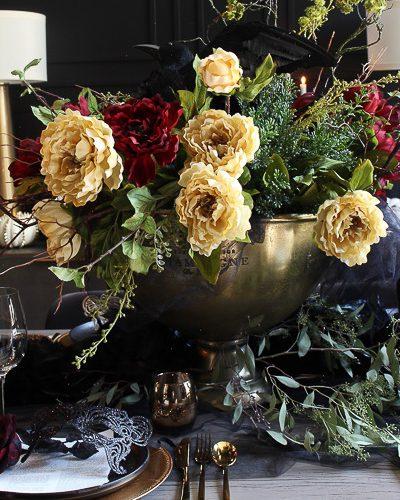 Moody Elegant Masquerade Halloween Table