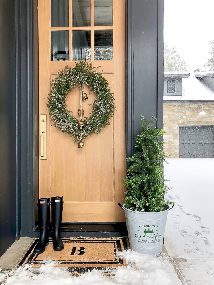 modern farmhouse winter wonderland christmas tour