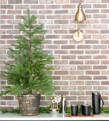 Industrial Modern Bar With Festive Holiday Style