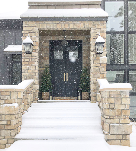 Our Winter Wonderland Christmas Home Tour: Snowy Porches & Front Entry