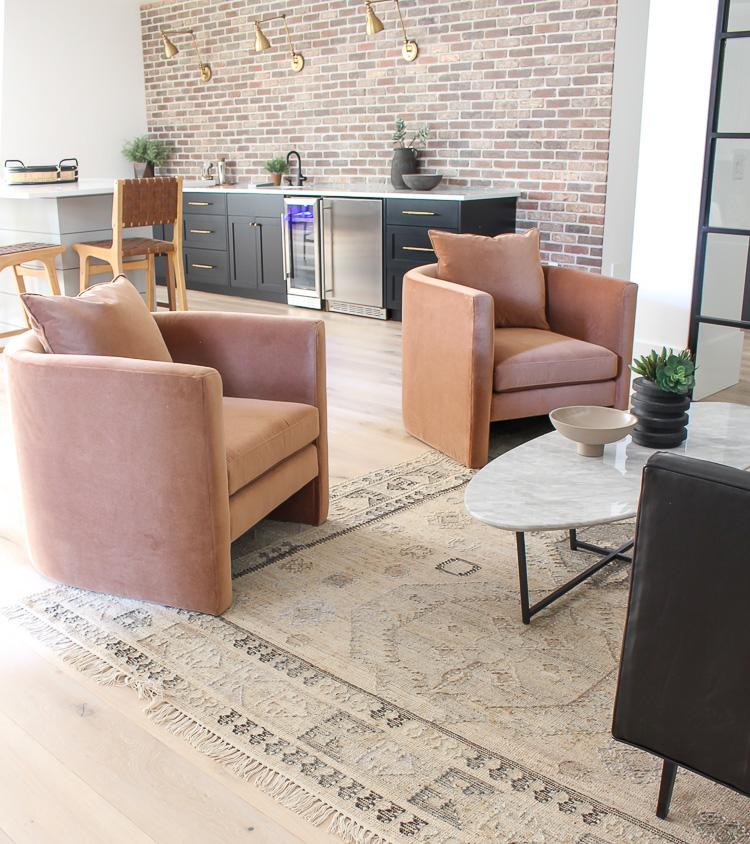 Modern-industrial-lounge-bar-brick-walls