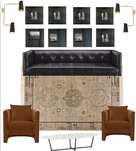 Design Plans: Modern Industrial Lounge