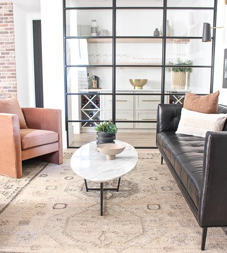 Modern Industrial Lounge Reveal!